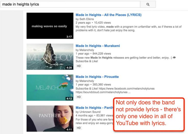 search results lyrics youtube