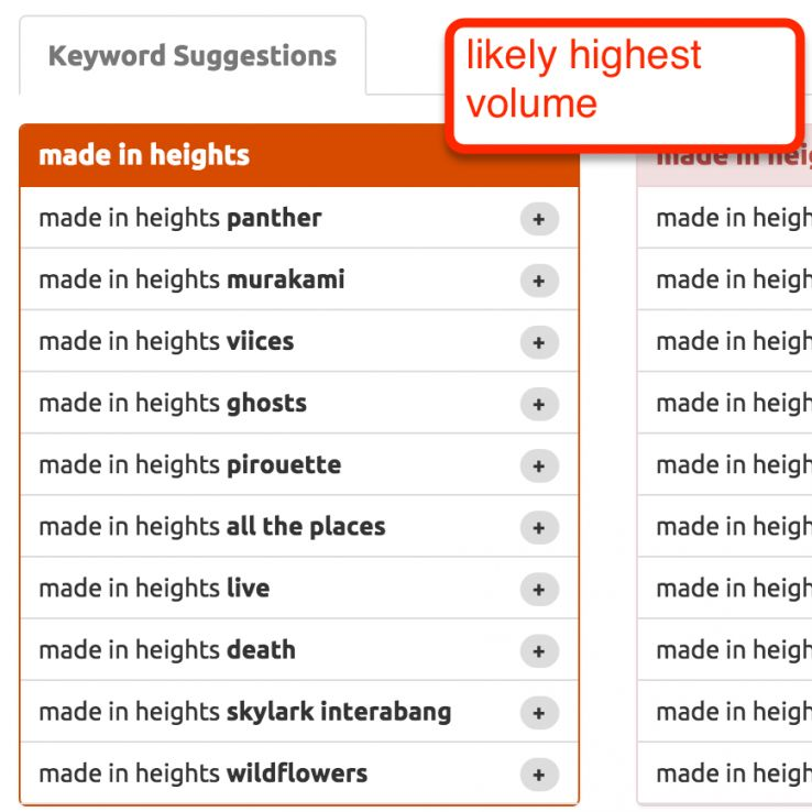 keyword suggestions youtube