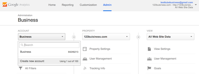 add account google analytics