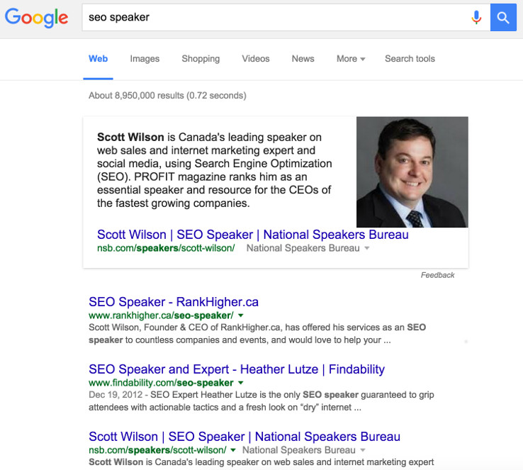 "Google search for ""seo speaker"""