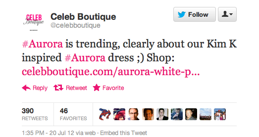 Aurora dress selling tweet