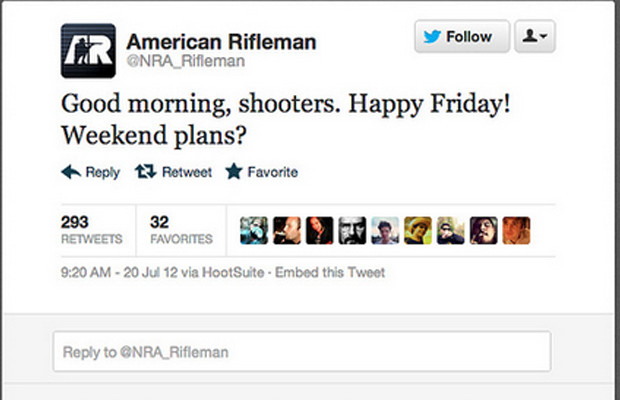 NRA asks how shooters are doing during Aurora shooting