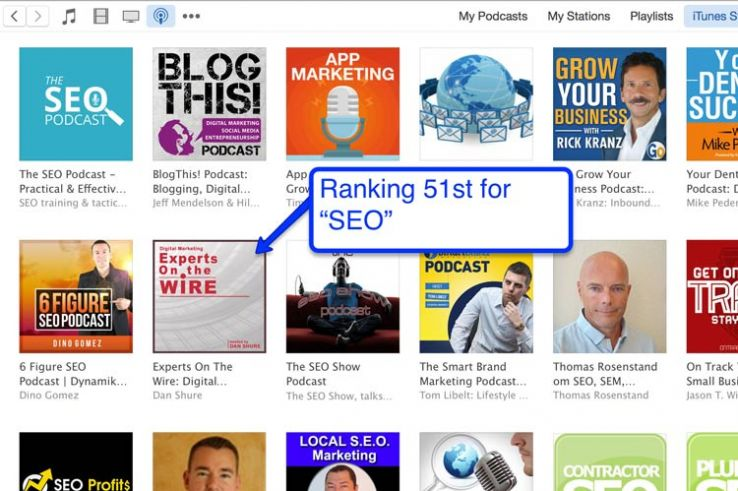 "iTunes results for ""seo."""
