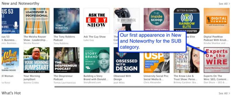 Made it into New and Noteworthy category on Day 28