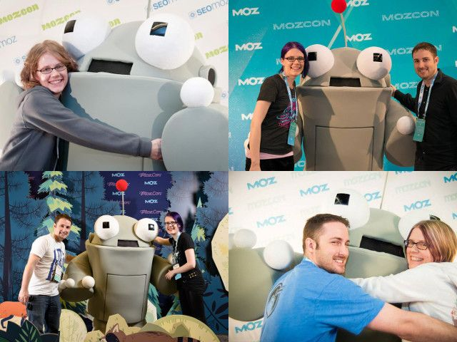 Erica and Jacob over the years with Roger Mozbot