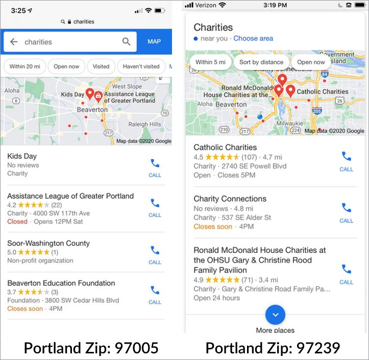 local results portland charities stroke 381221 - Local SEO for Nonprofit Organizations: 5 Tactics to Try Today