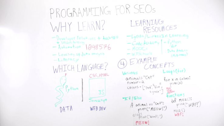Programming for SEOs - Whiteboard Friday 1