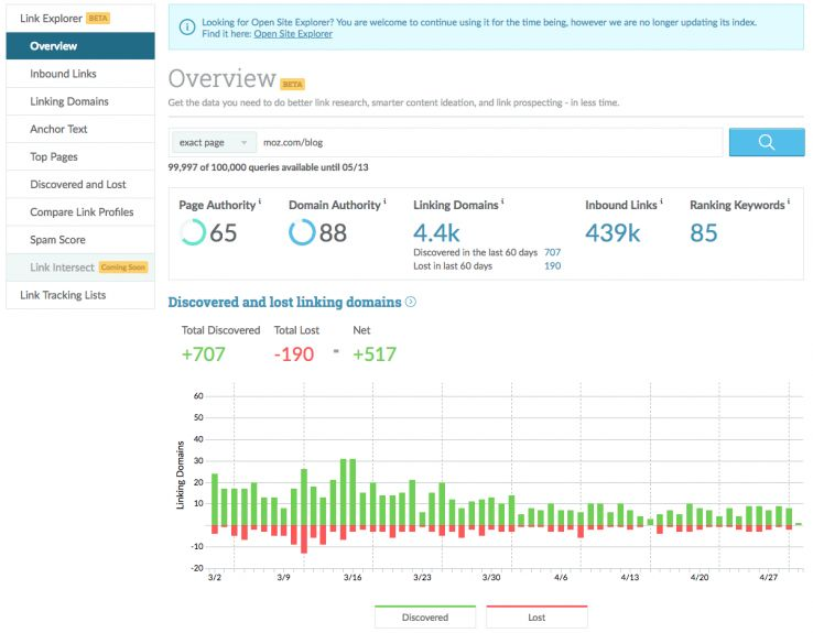 Faster, Fresher, Better: Announcing Link Explorer, Moz's New Link Building Tool