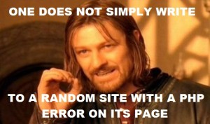 One does not simply...