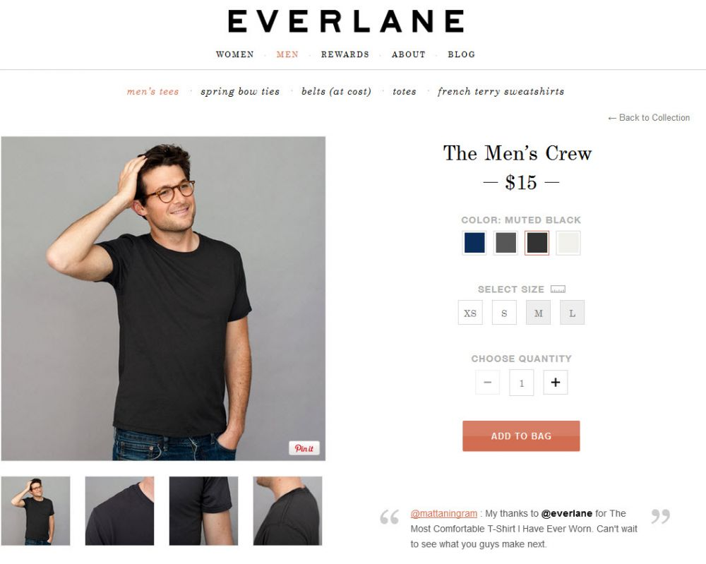Everlane Product Page