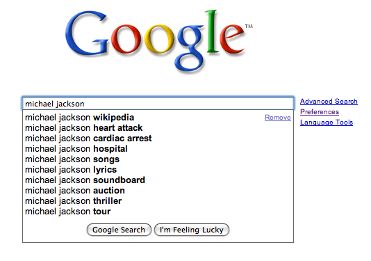 A Bad Day For Search Engines: How News Of Michael Jackson