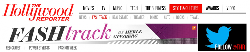 Hollywood Reporter Fash Track Header