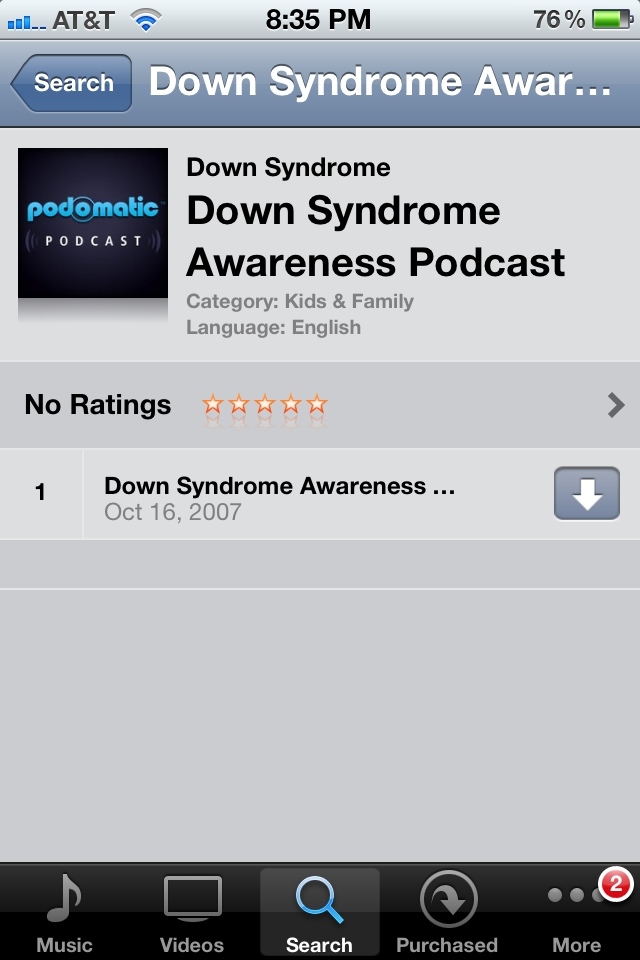 down syndrome old podcast