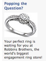 Facebook Ad for wedding rings