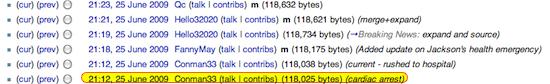 Wikipedia report