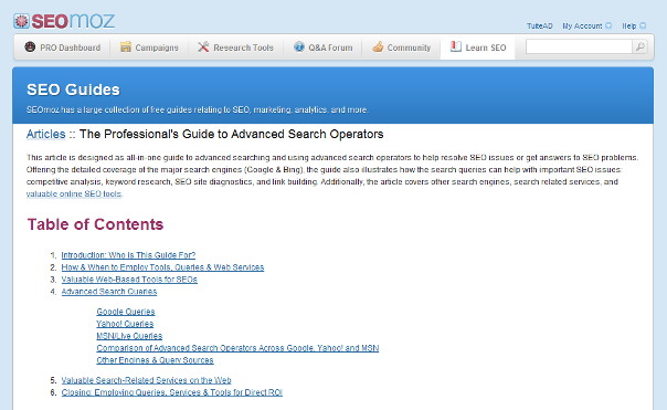 Advanced Search Operators