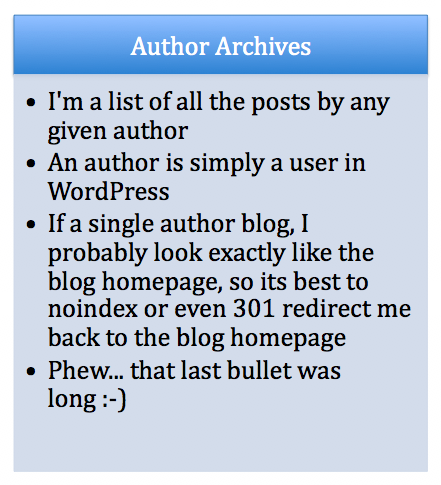 author archives
