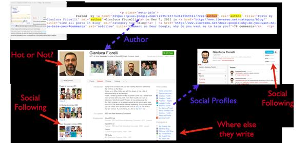 Authorship Markup leads to Google+ profile info