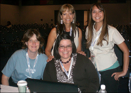 Keri Morgret, Jen Lopez, Dana Lookadoo and Virginia Nussey at SES