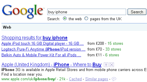 Buy iphone search results