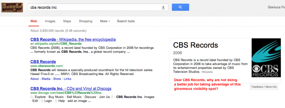 cbs records inc Knowledge graph