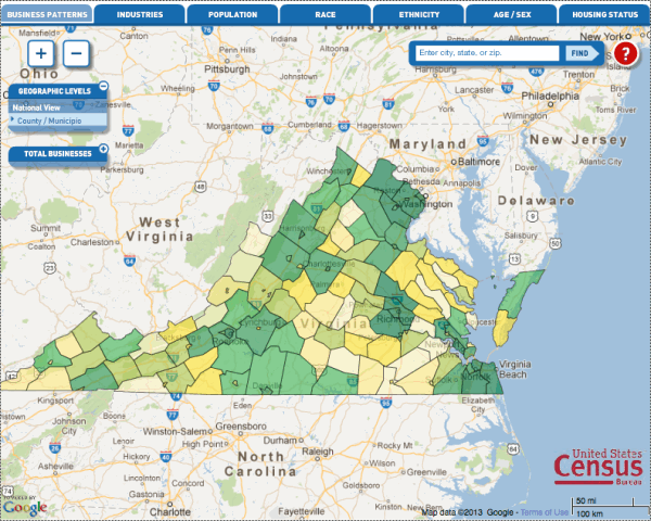 The Guide To US Census Data For Local SEO Moz - Us census interactive map