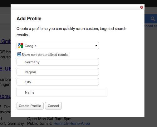Adding A Custom Search Profile