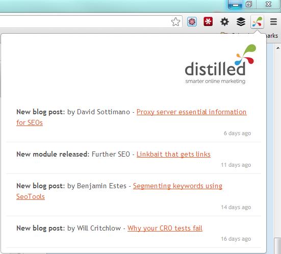 Distilled notifier dropdown