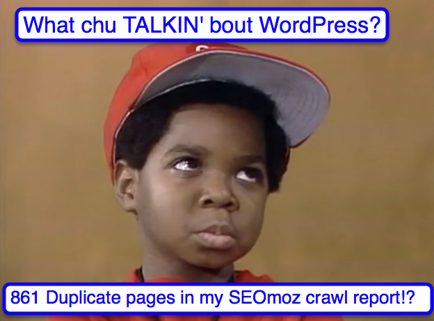 gary coleman and duplicate seomoz pages