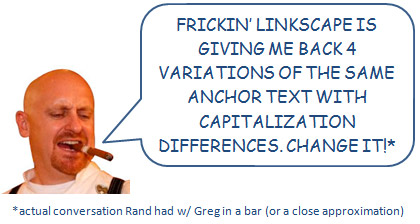 Greg Boser wants Capitalization Agnostic Anchor Text