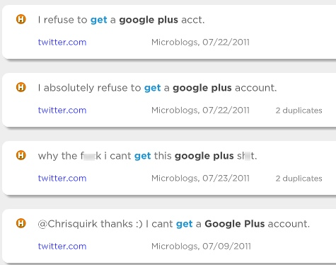 People don't get, can't get, or refuse to get Google Plus