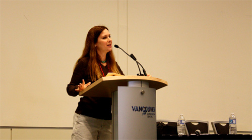 Jennifer Miner, Speaking about SEO for Travel Blogs at TBEX 2011
