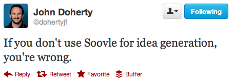 john doherty soovle tweet