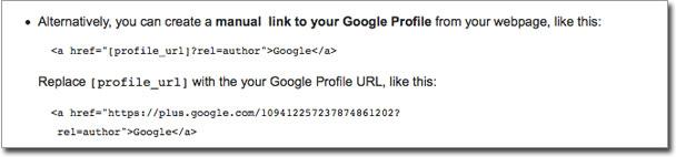 Google+ Linking