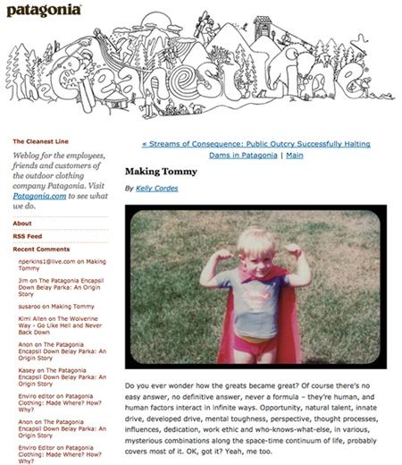 Making Tommy Patagonia Blog