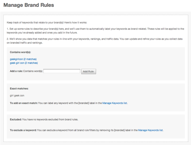 Manage your brand rules