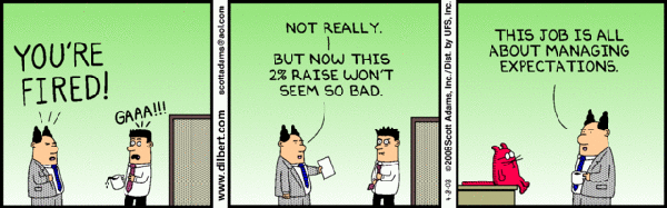 managing expectations comic Dilbert