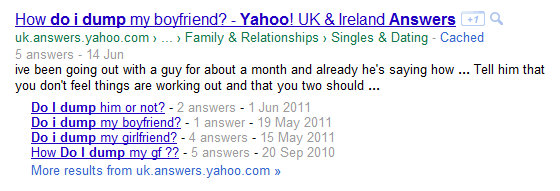 Multiple yahoo answers
