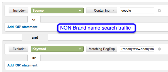 non brand search segment