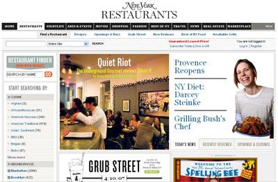 NY Mag Restaurants