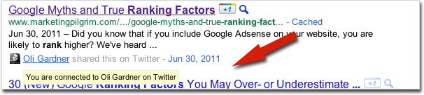 author authority with twitter?