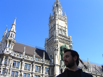 The Glockenspiel at Munich's Marienplatz