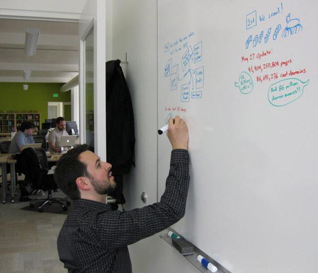 Rand Writing on the Whiteboard