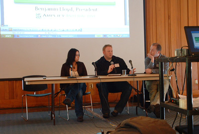 Rebecca, Scott & Ben on the Link Building Panel