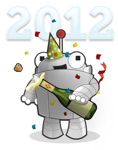 Roger 2012 New Year's Robot