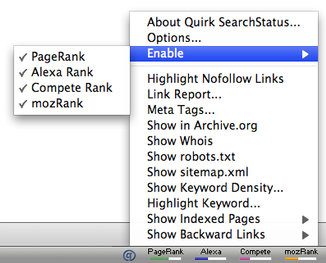 SearchStatus Toolbar
