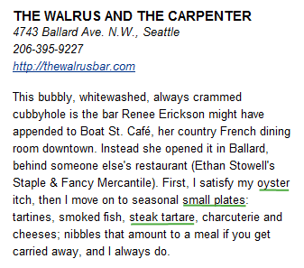Seattle Times' Review of The Walrus and the Carpenter