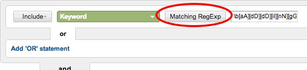 Select Matching Regexp