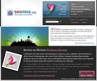 SEOmoz's Homepage