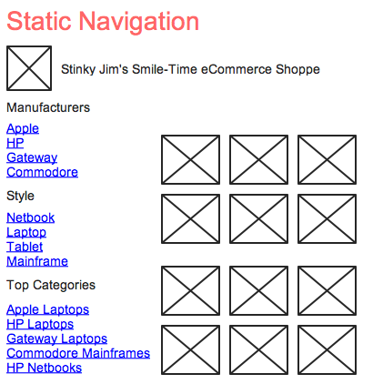 static navigation example